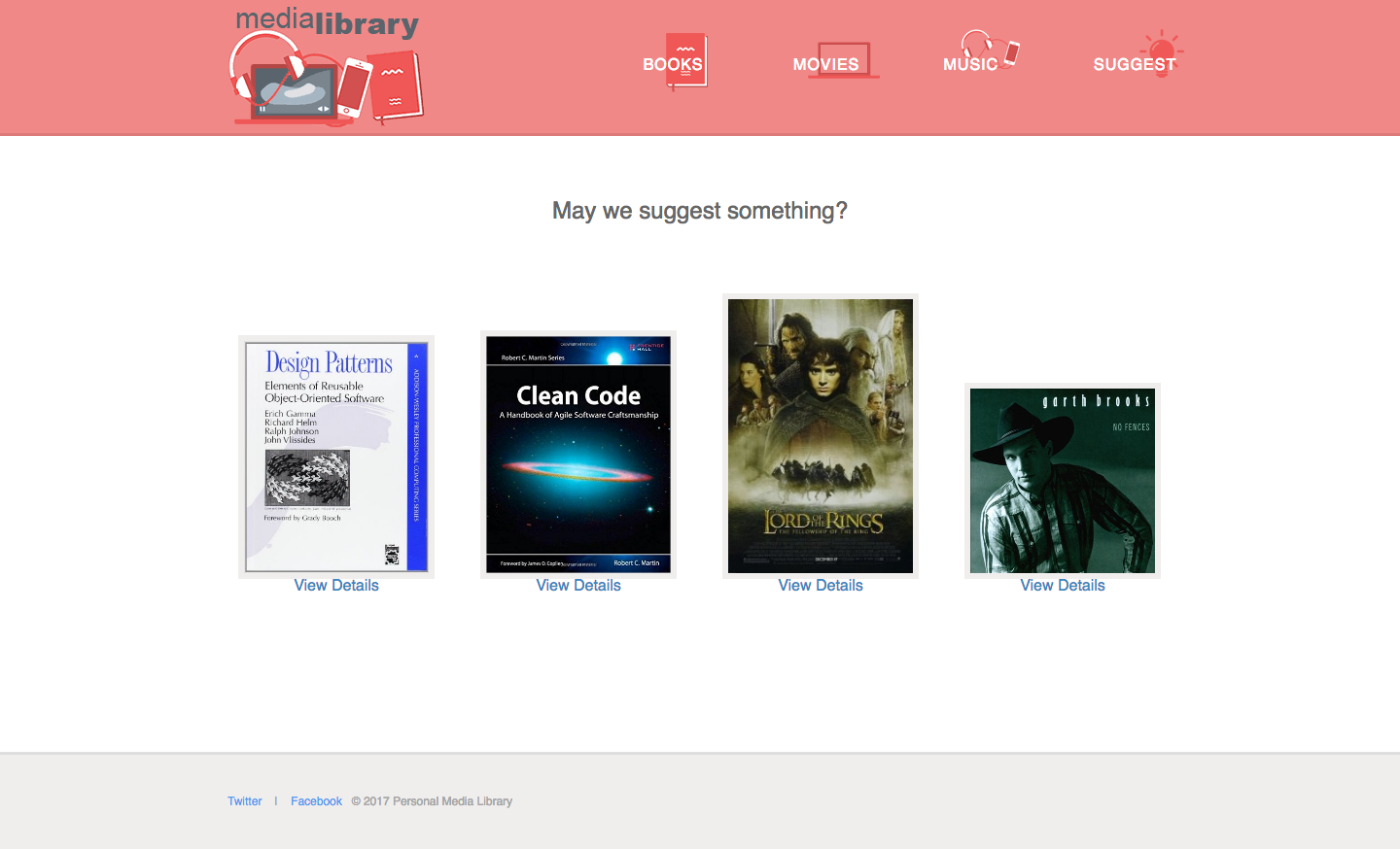 Personal media library PHP web app